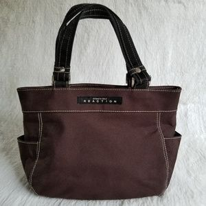 KENNETH COLE REACTION | Brown/Black Canvas Tote